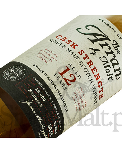 Isle of Arran 12 Years Old Cask Strength (batch 3) / 53,9% / 0,7 l