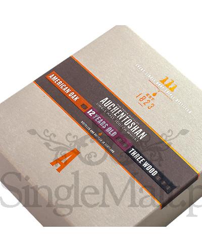 Zestaw Auchentoshan / American Oak, 12 YO, Three Wood / 41% / 3 x miniaturka 0,05 l