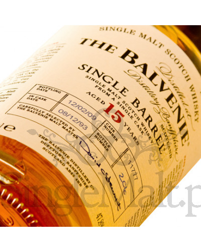 Balvenie 15 Years Old Single Barrel / 47,8% / 0,7 l