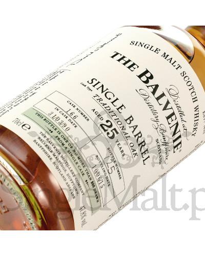Balvenie 25 Years Old Single Barrel / Traditional Oak / 47,8% / 0,7 l