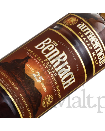BenRiach 25 Years Old / Authenticus / Peated / 46% / 0,7 l