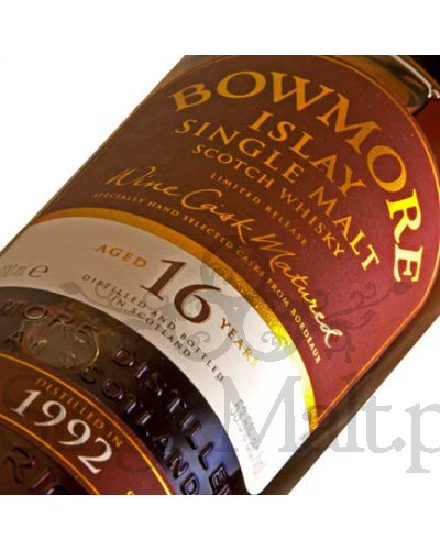 Bowmore 16 Years Old Wine Cask 1992 / 53,5% / 0,7 l