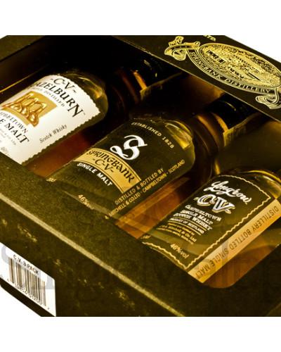 Zestaw Campbeltown Malts: Springbank CV / Longrow CV / Hazelburn CV / 46% / 3 x małe butelki 0,2 l