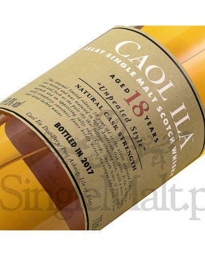 Caol Ila 18 Years Old Cask Strength / Unpeated style / 2017 / 59.8% / 0,7 l