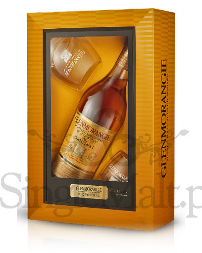 Glenmorangie Original 10 Years Old + 2 szklanki / 40% / 0,7 l