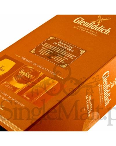 Glenfiddich 14 Years Old Rich Oak (zestaw degustacyjny) / 40% / 0,7 l
