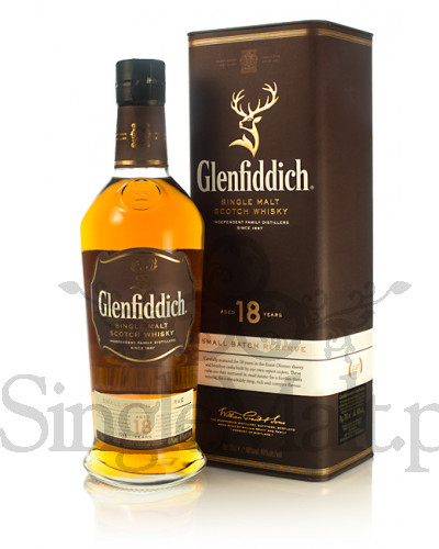 Glenfiddich 18 Years Old / Small Batch / 40% / 0,7 l