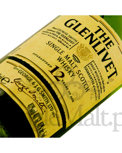 Glenlivet 12 Years Old / 40% / miniaturka 0,05 l
