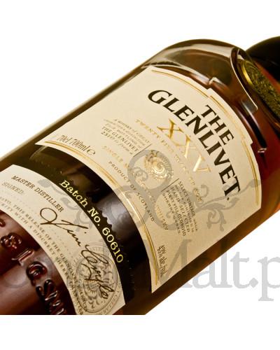 Glenlivet XXV / 25 Years Old (skrzynka) / 43% / 0,7 l