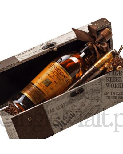 Kuferek Glenmorangie z czekoladowym cygaro