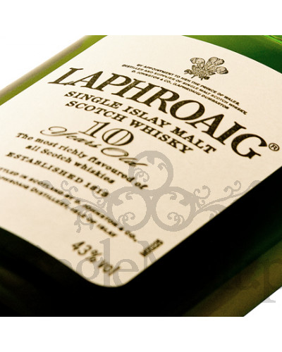 Laphroaig 10 Years Old / 43% / mała butelka 0,2 l