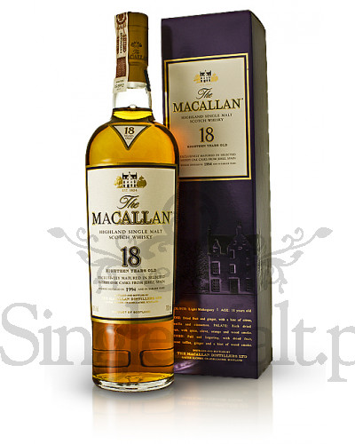 Macallan 18 Years Old Sherry Oak 1996 / 43% / 0,7 l