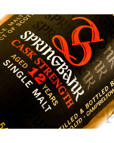 Springbank 12 Years Old Cask Strength / 58,5% / 0,7 l
