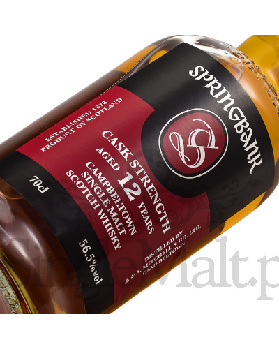 Springbank 12 Years Old Cask Strength / 56,3% / 0,7 l