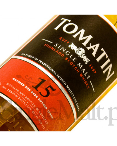 Tomatin 15 Years Old / 43% / 0,7 l
