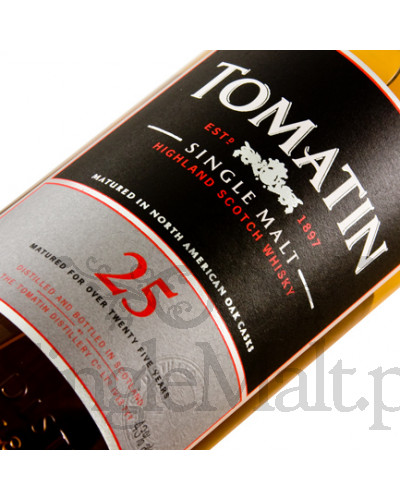 Tomatin 25 Years Old / 43% / 0,7 l