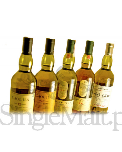 Zestaw Islay Collection: Caol Ila 12 YO i 18 YO / Lagavulin 12 YO i 16 YO / Port Ellen 28 YO / 48,16% / 5 x małe butelki 0,2 l