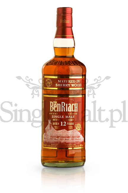 BenRiach 12 Years Old / Sherry Wood / 46% / 0,7 l