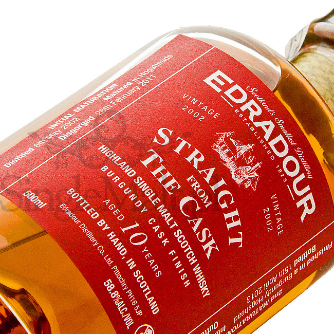 Edradour 10 Years Old / 2002 / Straight from The Cask / Burgundy / 58,8% / 0,5 l