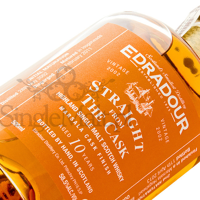 Edradour 10 Years Old / 2002 / Straight from The Cask / Marsala / 58,5% / 0,5 l