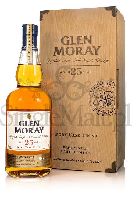 Glen Moray 25 Years Old / Port Cask Finish / 1988 / 43% / 0,7 l
