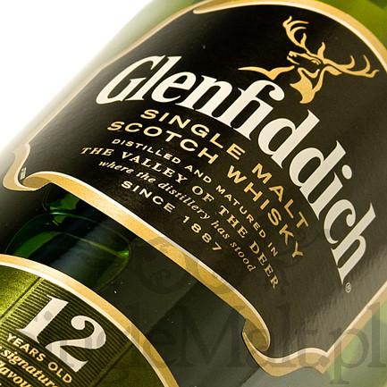 Glenfiddich 12 Years Old / 40% / mała butelka 0,35 l