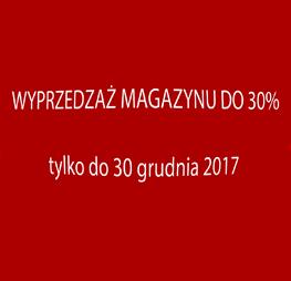 Wyprzedaż magazynu do 30%